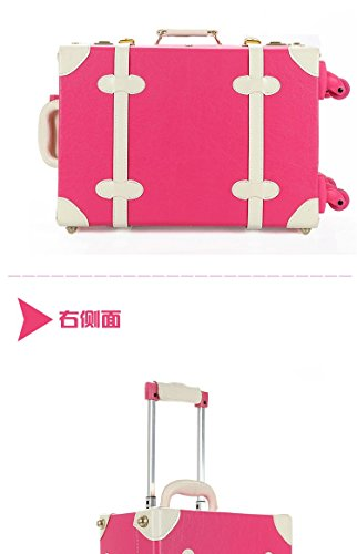 DPIST® Luggage Sets On Sale Vintage & Retro Style Carry-On Trolley Luggage and Cosmetic Tote Bag Set 3