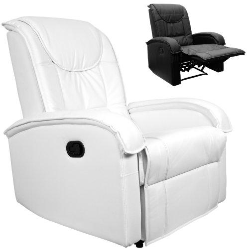 STILISTA-TV-Relaxsessel-aus-Kunstleder-mit-ausklappbarer-Fusttze-bequeme-Polsterung-Farbe-weiss