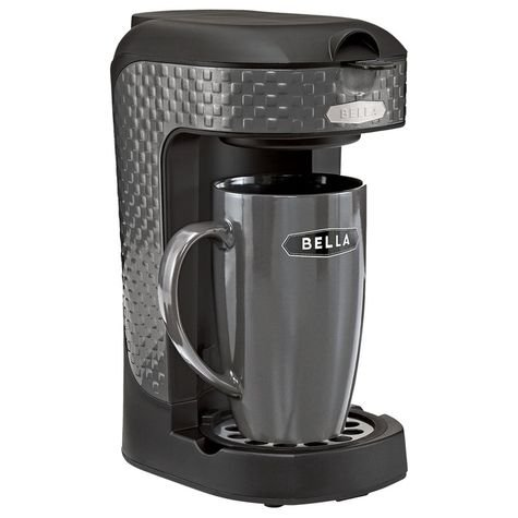 Bella One Scoop One Cup Single Serve Black Coffee Maker (Single Serve Scoop Coffee compare prices)