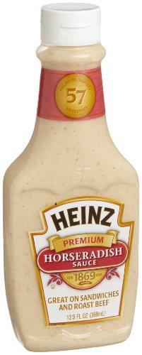 Heinz Premium Horseradish Sauce 12 5 Ounce Squeeze Bottles Pack of 6
