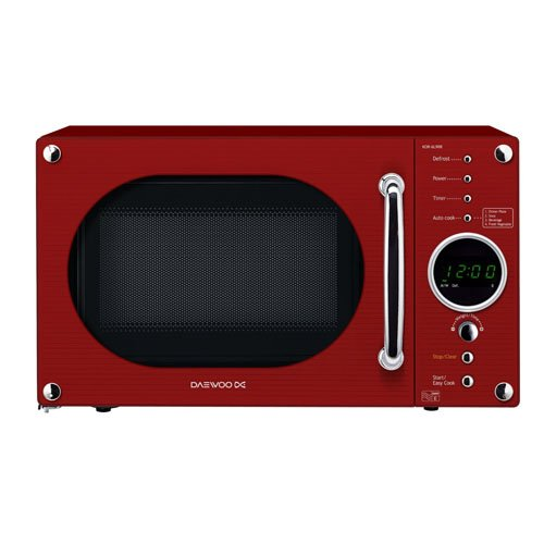 Daewoo KOR6N9RR Touch Control Solo Microwave Oven, 20 L, 800 W - Red