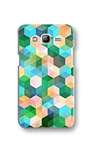 EYP Green Hexagons Pattern Back Cover Case for Samsung Grand Neo
