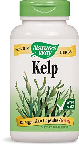 Nature's Way Kelp Capsules, 180-Count, 600mg