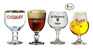Belgian Beer Glass Chalice Sampler Set 4-piece by Belgian beer
