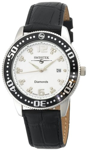 Swisstek Men's SK27723G Slim-Tek Limited Edition Diamond Watch