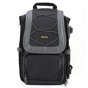 Evecase Professional DSLR Camera Backpack for Nikon D7100, D7000, D5200, D5100, D5000, D3200, D3100, D3000, D800, D700, D600, D300S, D300, D200, D90, D80, D60, D40, COOLPIX P500 SLR Digital Cameras