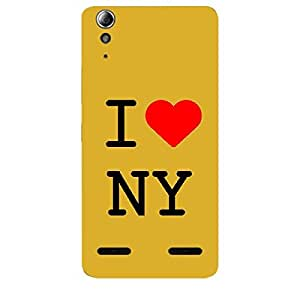 Skin4gadgets I love New York - NY Colour - White Phone Skin for LENOVO A6000 PLUS