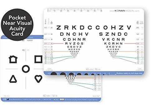 Konan Pocket Near Visual Acuity Card (Near Eye Chart compare prices)