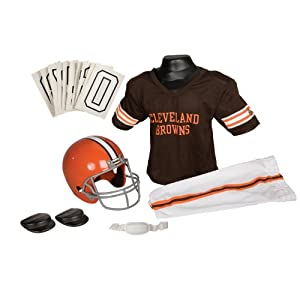 Franklin Sports NFL Cleveland Browns Deluxe Youth Uniform Set, Small