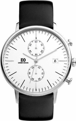 Danish Design Chronograph Black Leather Men