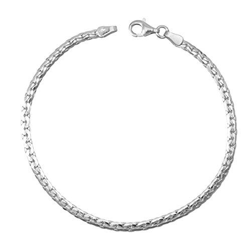 bracelet femme or blanc maille haricot bijoux en or. Black Bedroom Furniture Sets. Home Design Ideas