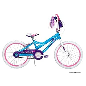  Huffy 20-Inch Girls Coastal Bike (Secret Wash Ocean Blue and White)