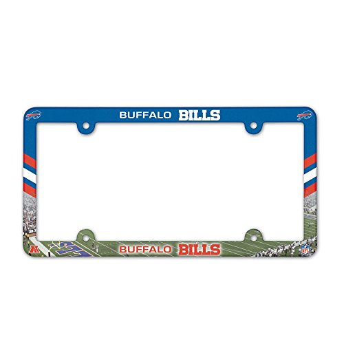 NFL Buffalo Bills License Plate with Full Color Frame (License Plate Frame Buffalo compare prices)