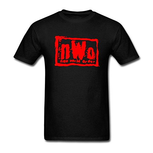 Linsa Men's NWo The Wolfpack Design Cotton Short Sleeve T Shirt