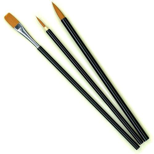 クリエイト デザイン用筆 (ナイロン毛) 3本セット