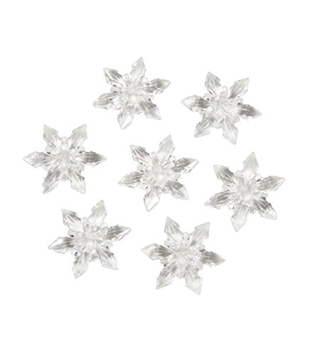 Darice 1151-88 Acrylic Diamond Gems, 7-Ounce, Clear Snowflakes (Wedding Gems For Centerpieces compare prices)