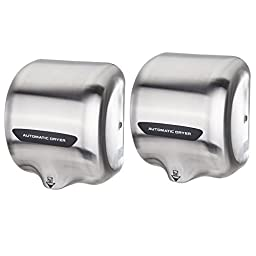 Orion Motor Tech 2 PACK Commercial Hand Dryer Stainless Steel Automatic Polished