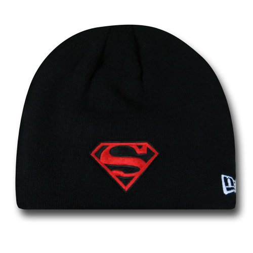 Superman Symbol Black New Era Beanie