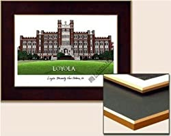 Loyola University, New Orleans Collegiate Laminated Collegiate 18x14 Lithograph