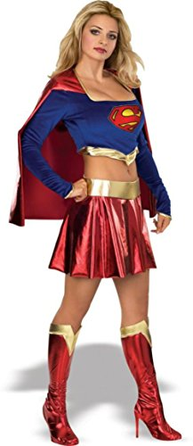 Rubies Womens Dc Comics Supergirl Fancy Dress Halloween Themed Sexy Costume