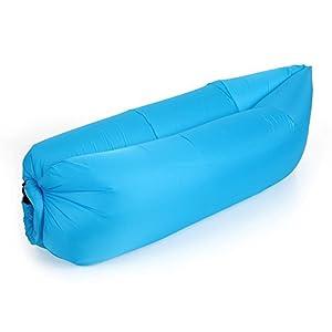Das Leben Canapé Gonflable en Oxford Sac à Couchage Loisir en Plein Air Matelas Lit Portable Camping Extérieur pour Randonnée (Bleu Ciel)