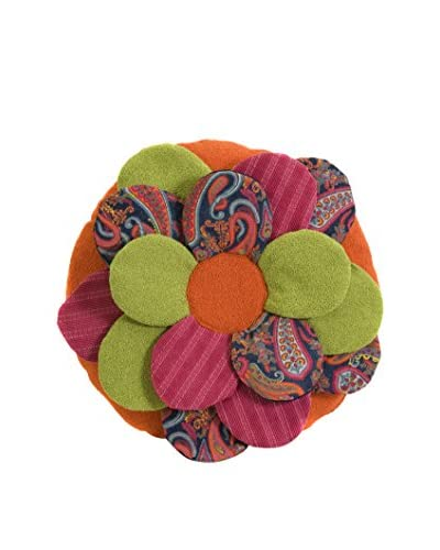 Estelle Multi-Fabric Flower Pillow