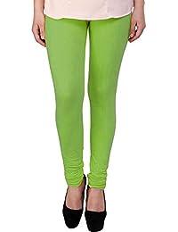 Snoogg Womens Ethnic Chic Inspired Churidar Leggings In Light Green