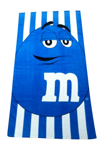 M&M Character Blue Cabana Stripe Oversize / Beach Towel - 30 x 60