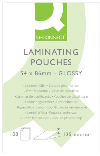 q-connect-125-micron-laminating-pouch-54-x-86-mm-pack-of-100