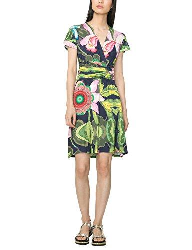Desigual Damen A-Linie Kleid DANIEL, Knielang, Gr. 40 (Herstellergröße: XL), Blau (NAVY 5000) thumbnail