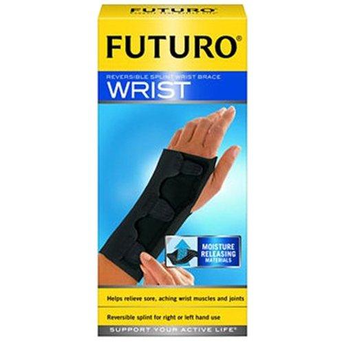 Futuro Splint Reversible and Adjustable Black Medium Wrist Brace - 15.9 cm - 19 cm