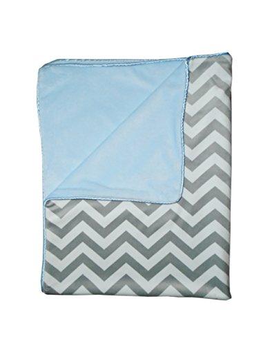 Baby Doll Minky Chevron Crib Comforter, Blue