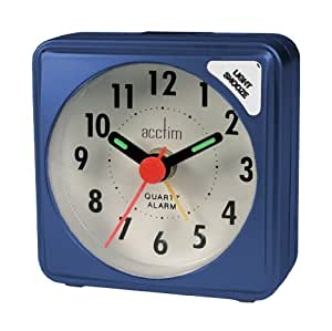 Acctim Ingot Small Blue Quartz Travel Time Alarm Clock