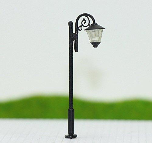 Evemodel 10 Stk. LED Lampen 50mm Spur N / TT Leuchte Straßenlampen NEU