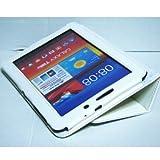 Galaxy Tab 7.7 Plusケース/ギャラクシータブ/小型品 SC-01E/スタンドB型/合皮/ホワイト/白色