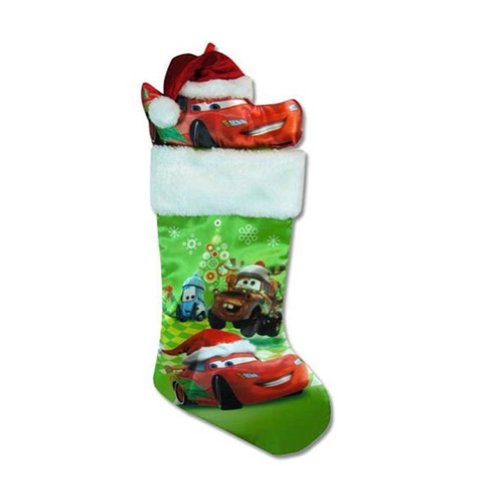 Disney Cars 18inch Stocking Fully Printed with Plush Head Hanger STNC