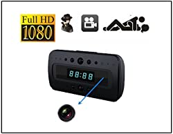 Spy Cam Hidden Camera Clock Hd 1080P Remote Night Vision Motion Detection