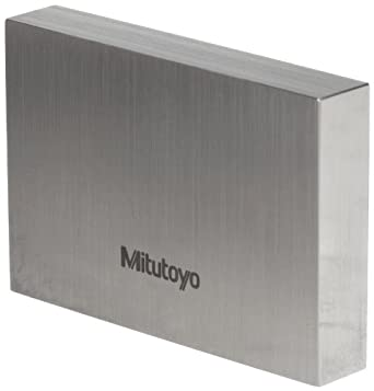 "Mitutoyo Steel Rectangular Gage Block, ASME Grade 0, 0.100"" Length"