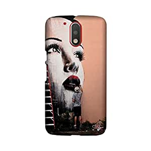 PrintRose Moto G4 Play back cover - High Quality Designer Case and Covers for Moto G4 Play Wall painting