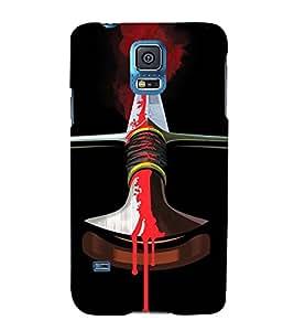 EPICCASE Blood Sword Mobile Back Case Cover For Samsung Galaxy S5 Mini (Designer Case)