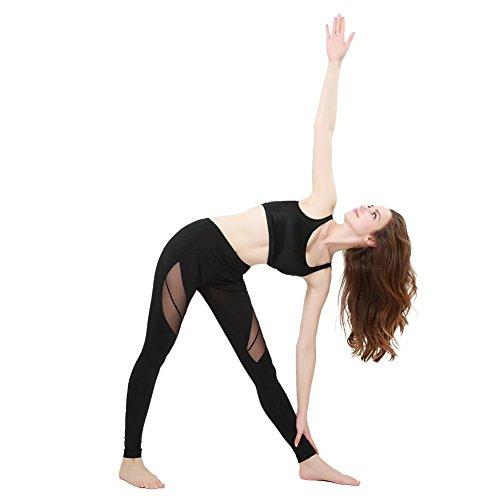 JOYMODE Women's Absolute Workout Sports Trousers Fitness Yoga Leggings Pants Size M Black
