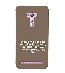 EPICCASE Insprirational Quotes Mobile Back Case Cover For Asus Zenfone Selfie (Designer Case)