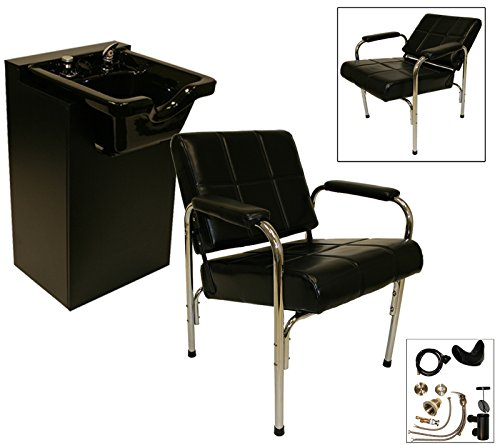 Lcl Beauty Shampoo Package: Autorecline Shampoo Chair & Shampoo Cabinet With Heavy Duty Ceramic Bowl front-9075
