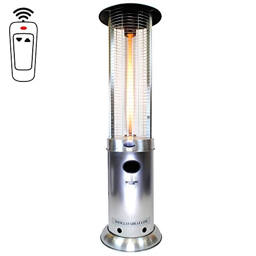 Lava Heat Italia LHI-OPUS-51BTU-SS-NG Opus Natural Gas Patio Heater, Stainless Steel