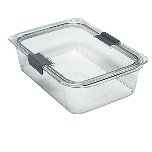 Rubbermaid Brilliance Food Storage Container, BPA-free Plastic, Large, 9.6 Cup, Clear (Plastic Lid Large compare prices)