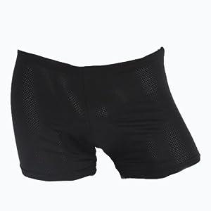 Sous Vetements Short Course velo bicyclette Cyclisme vtt sport 3D Culotte Cuissard Boxer Confortable protect pantalon noir POUR hommes/ femmes/jeunes Taille M