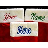 Personalized Christmas Stockings Custom Name Embroidered 19""