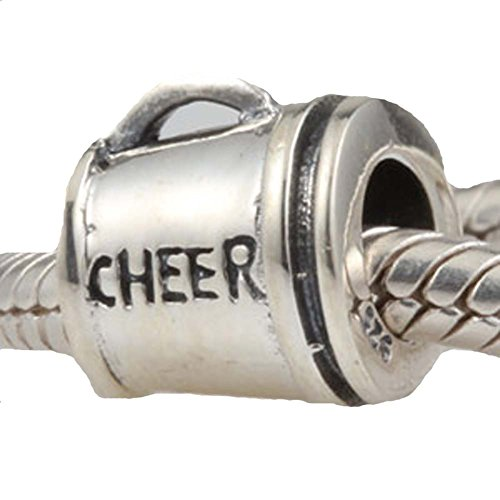 Cheer Charms Sterling Silver Cheerleader Beads for Pandora Charms Bracelet (Pandora Charms Beer Mug compare prices)