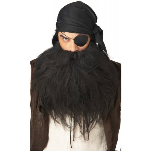 Grey Pirate Beard & Moustache Costume Accessory