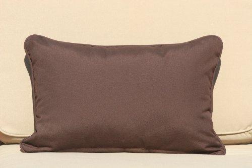 Premium Outdoor Lumbar Decorative Pillow - Chocolate